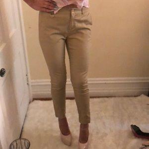 MK beige straight pants 4